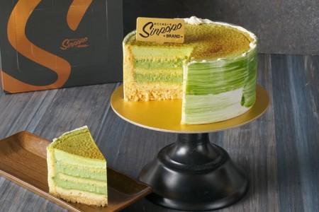 Matcha Crème Brulee Cake