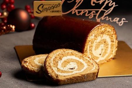 Gula Melaka Log Cake