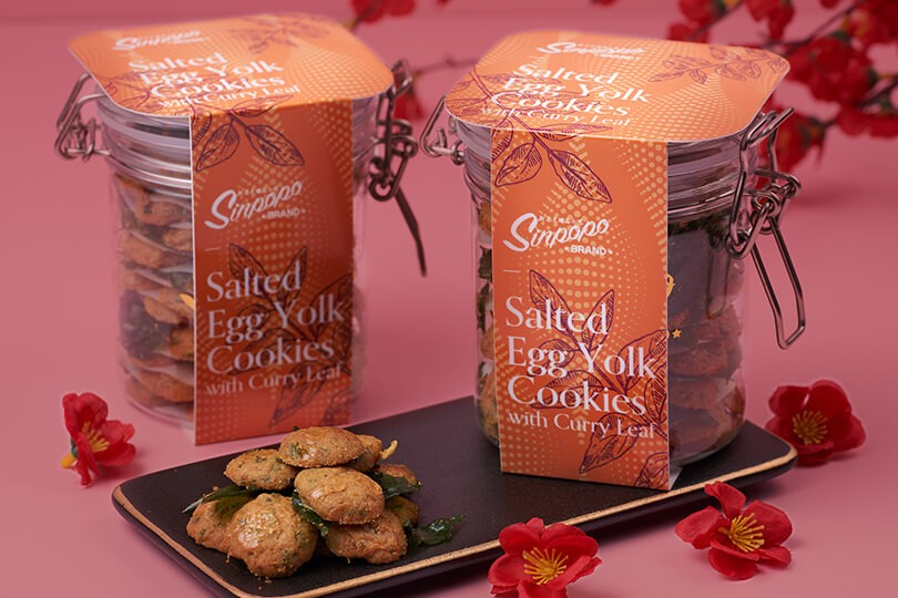 Salted Egg Yolk Cookies with Curry Leaf